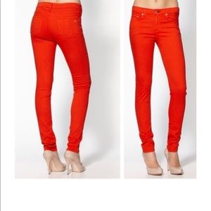 Rag & Bone Reddish Orange Skinny legging Pants 28